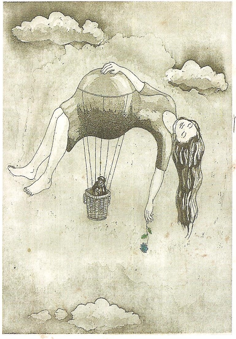 femme enceinte montgolfière