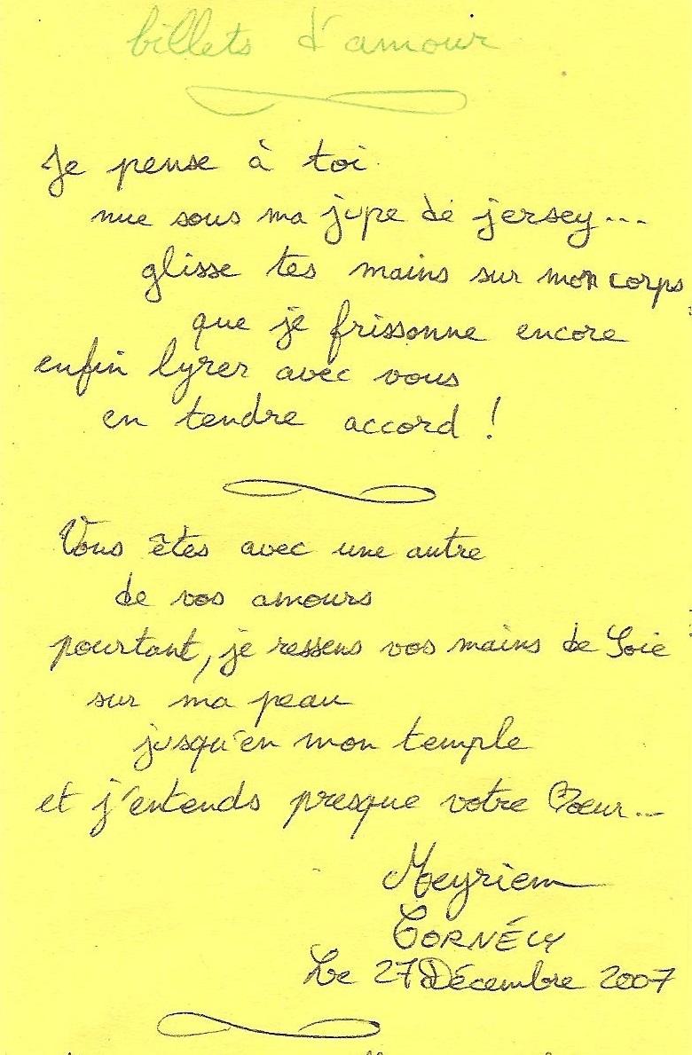 billets d'amour- 1 -
