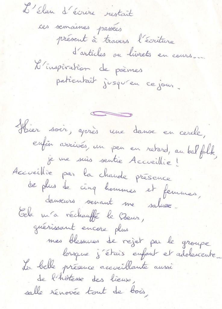 l'élan d'écrire +  Hier soir après une danse ( St L des Arbres ) - 1-